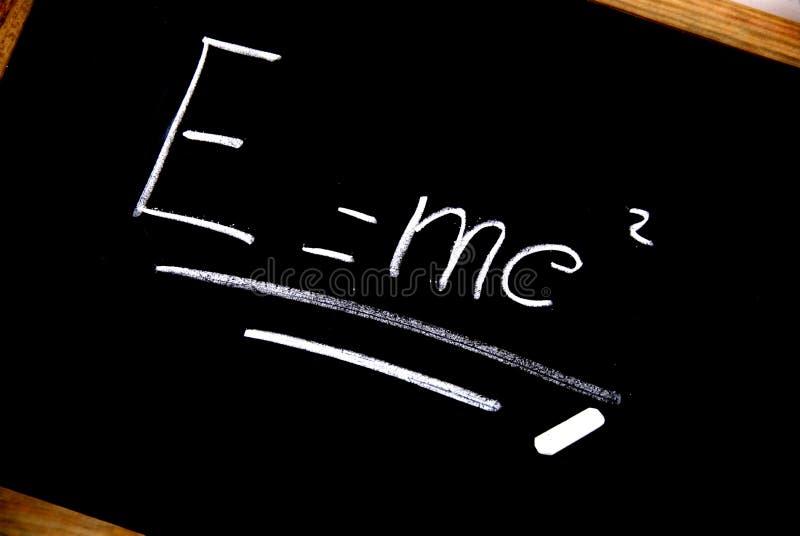 E = mc² Einstein formula stock image