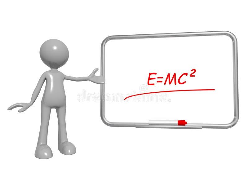 E=mc2 a bordo immagini stock libere da diritti