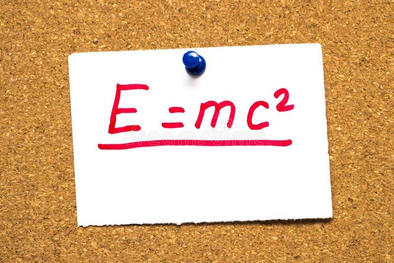 E=mc2 Mass-energy equivalence stock photography