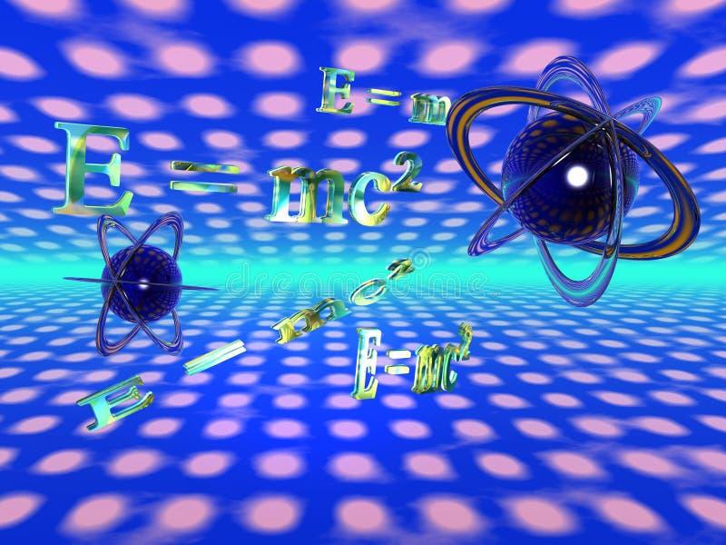 E=mc?, theoretische Physik lizenzfreie abbildung