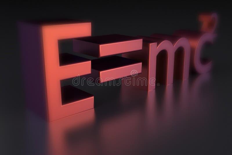 E-mc2 illustrazione vettoriale