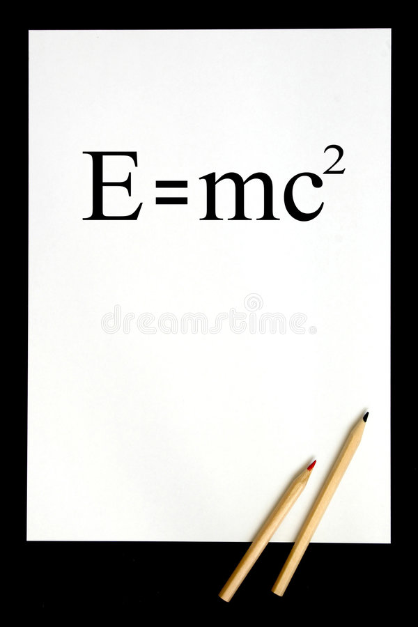 E=mc2 illustration libre de droits