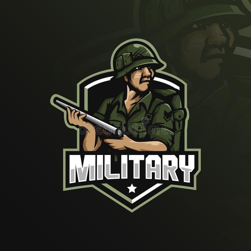 E militar ilustração royalty free