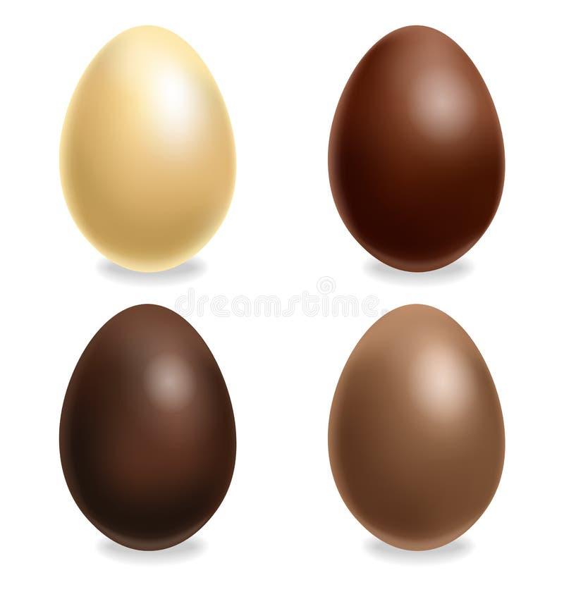 E Mjölka choklad och mörk choklad, vitt r stock illustrationer