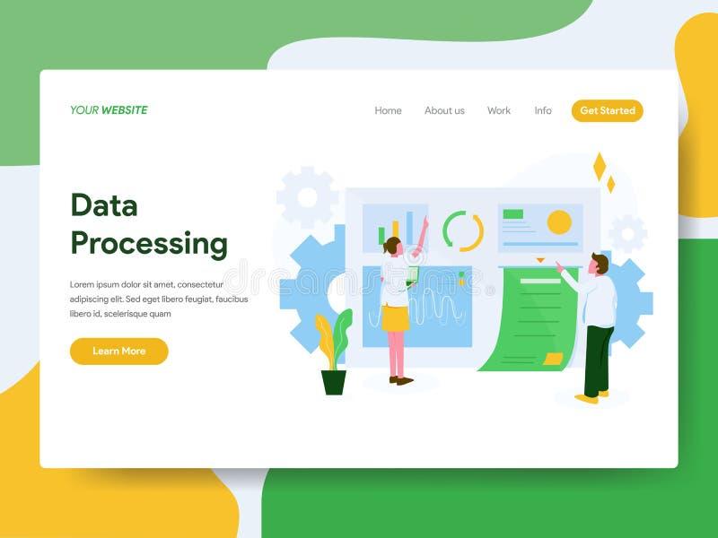 E Modern vlak ontwerpconcept webpaginaontwerp voor website en stock illustratie