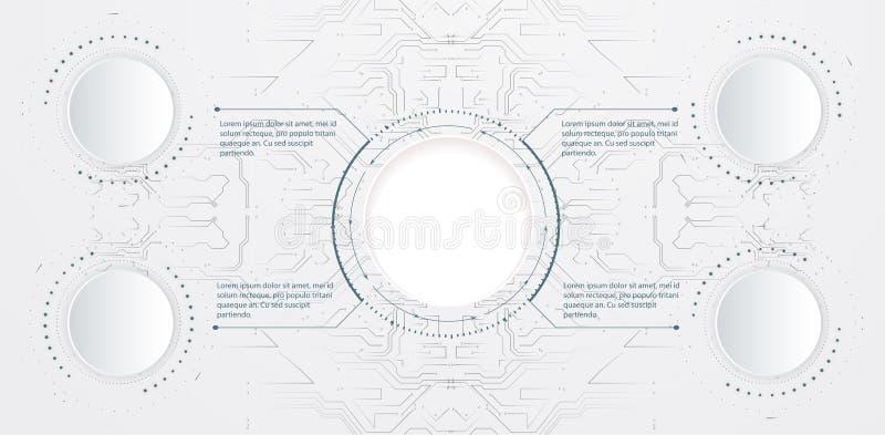 E moderna baner vektor illustrationer