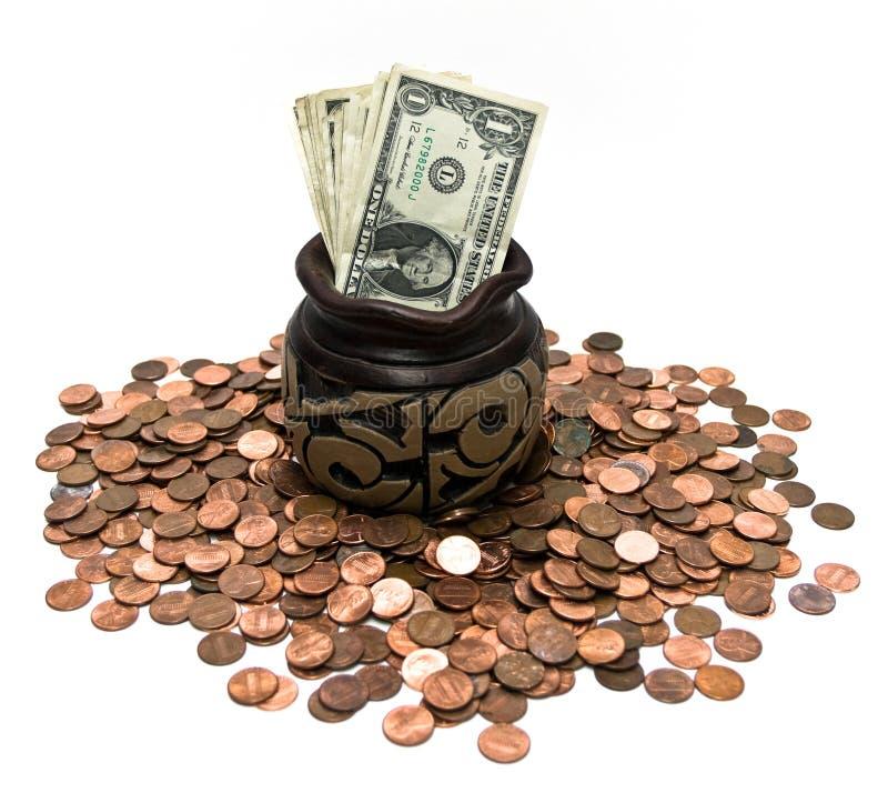 E moedas de um centavo imagem de stock royalty free