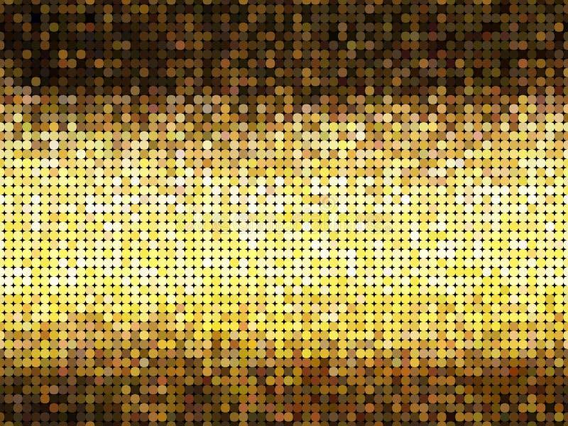E Mosaïque carrée de Pixel illustration de vecteur