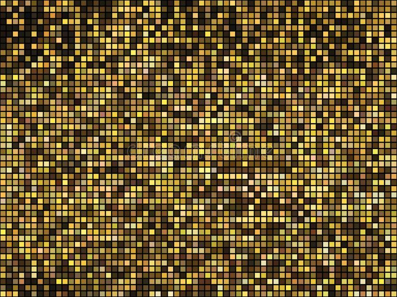 E Mosaïque carrée de Pixel illustration stock