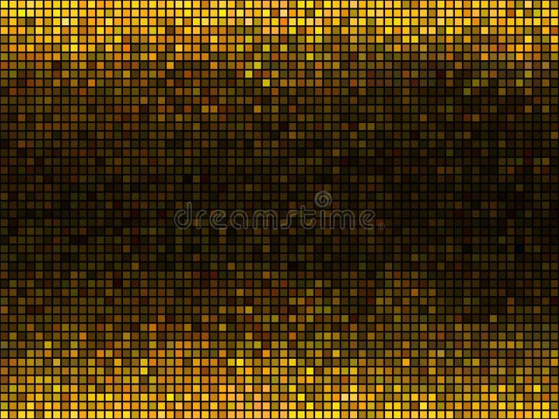 E Mosa?que carr?e de Pixel illustration stock