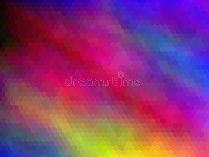 E Multicolor шестиугольно pixeled абстрактная предпосылка бесплатная иллюстрация