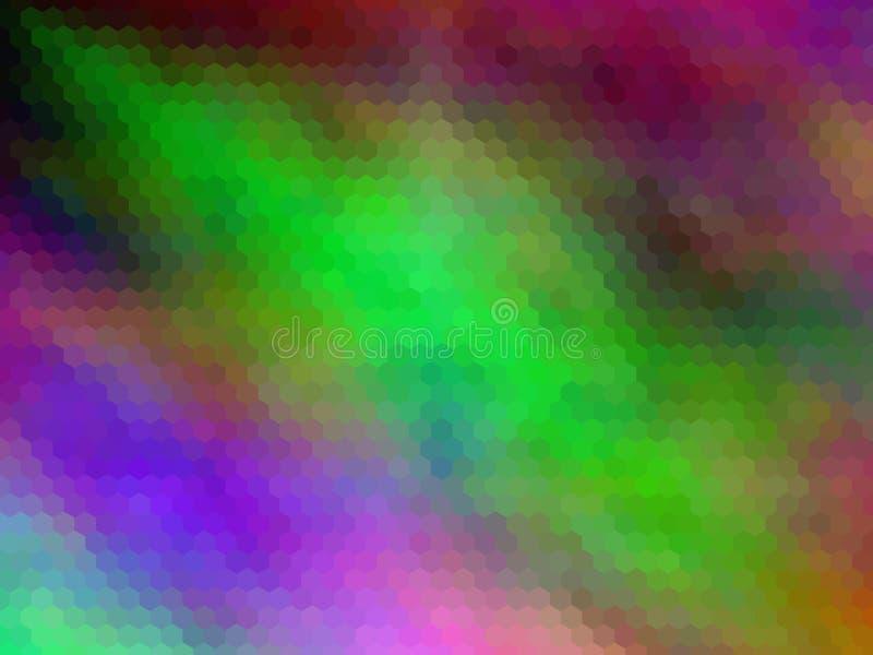 E Multicolor шестиугольно pixeled абстрактная предпосылка иллюстрация штока