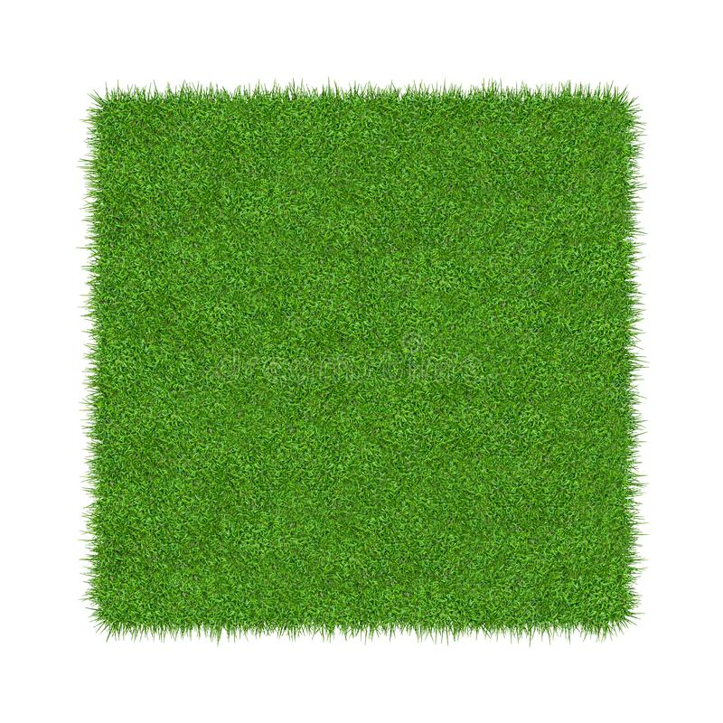 E Natuurlijke textuurachtergrond Vers de lente groen gras Ge?soleerdj op witte achtergrond stock illustratie