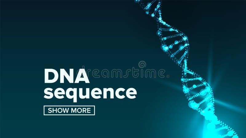 E Nauki tło LUDZKI genom ilustracja ilustracji