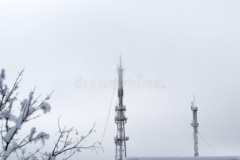 E Nebelhafter Wintermorgen lizenzfreie stockbilder
