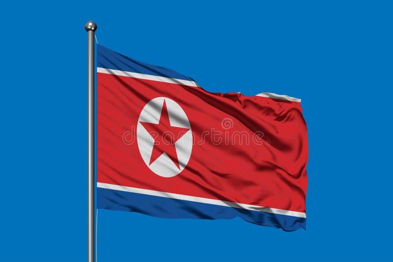 E norr flaggakorean arkivfoto