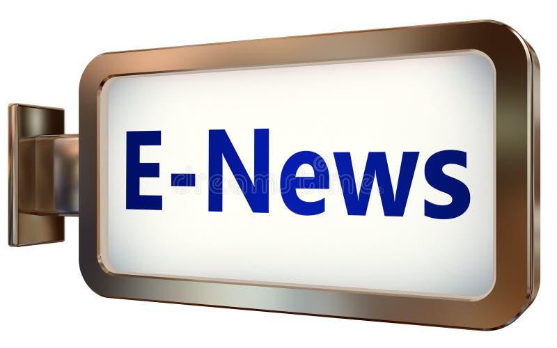 E-notícias no fundo do quadro de avisos ilustração stock