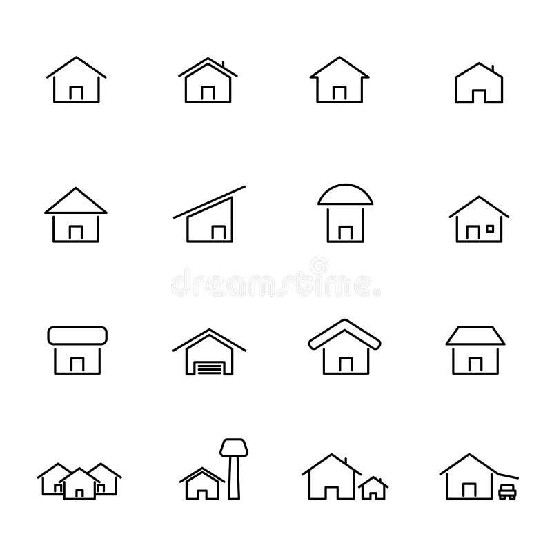 E o Linea sottile tema dell'icona Fondo isolato bianco illustrazione di stock