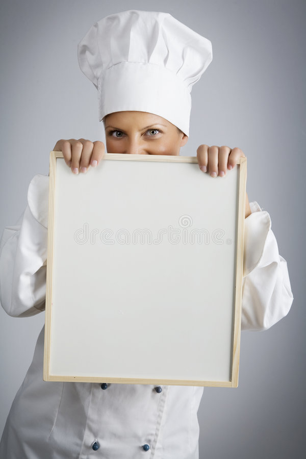 E o menu de hoje é. imagens de stock royalty free