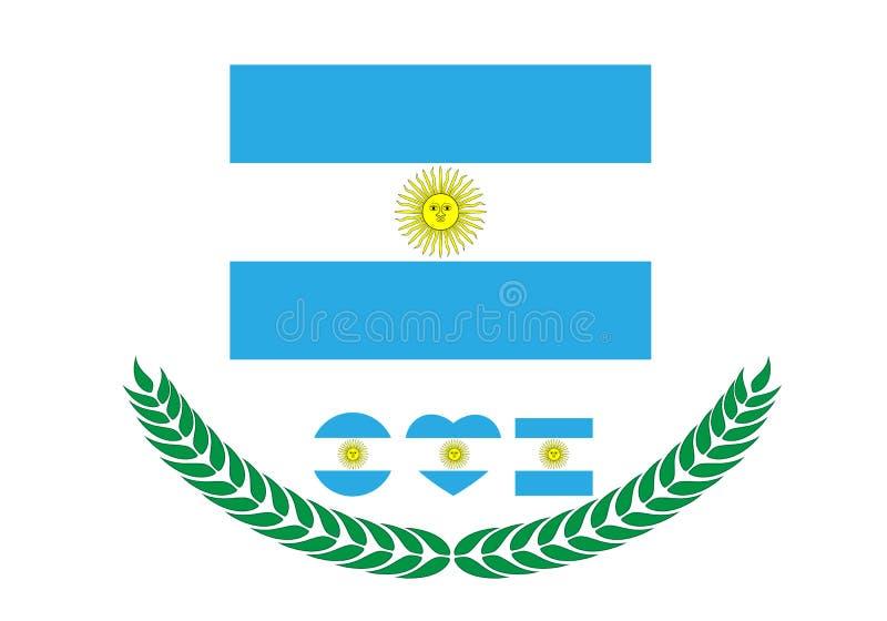 E okulary argentina stylu do wektora bandery r ilustracji