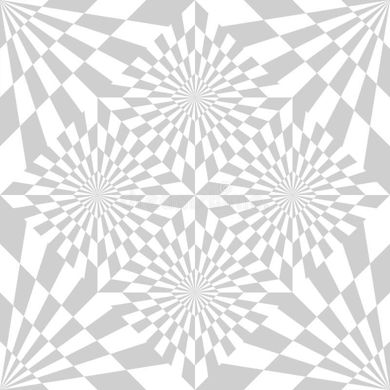 E Optische illusie vector illustratie