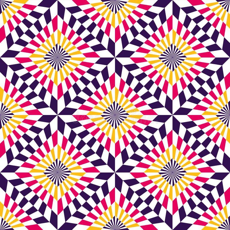 E Optische illusie royalty-vrije illustratie