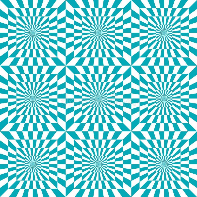 E Optische illusie stock illustratie