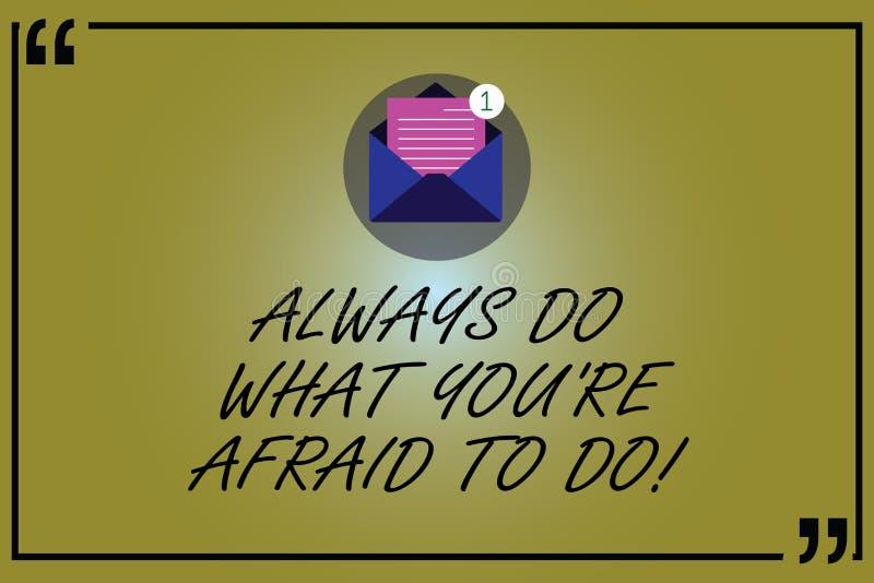 E Overcome的企业概念开放您的恐惧挑战的刺激 向量例证