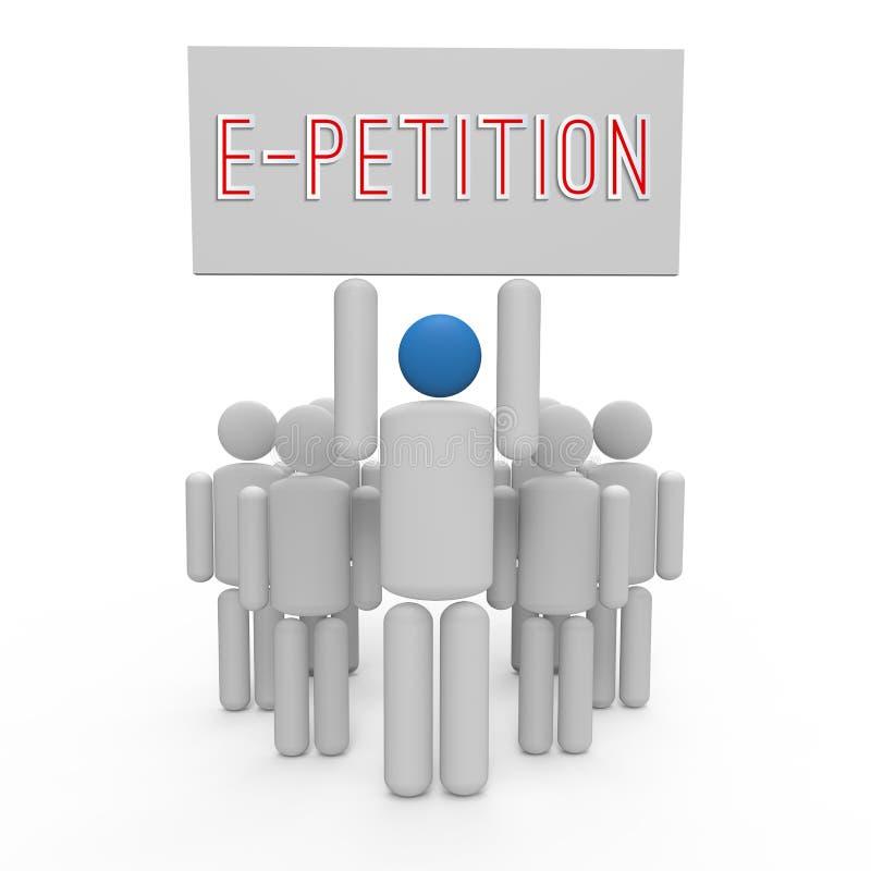 E-pétition illustration stock