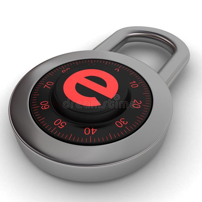 E-padlock Immagine Stock