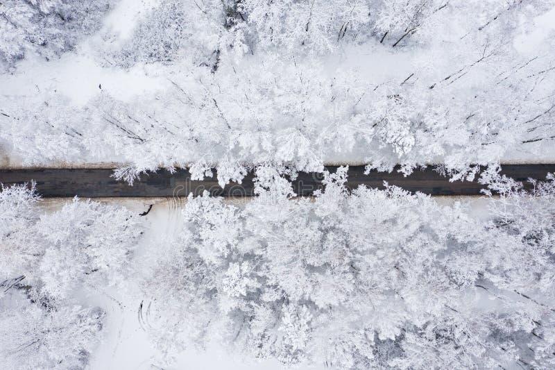 E Paisaje del invierno desde arriba Paisaje fotografía de archivo