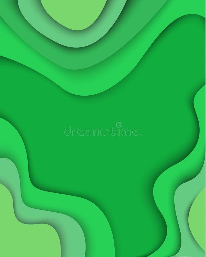 E papel del extracto 3D ilustración del vector