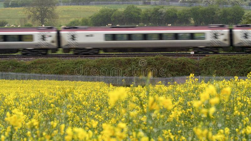 E Paysage ferroviaire image stock