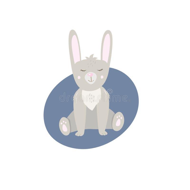 E Pequeño conejo lindo libre illustration