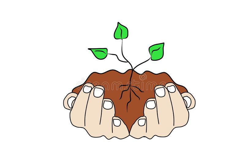 E Pflanzenpflege stock abbildung
