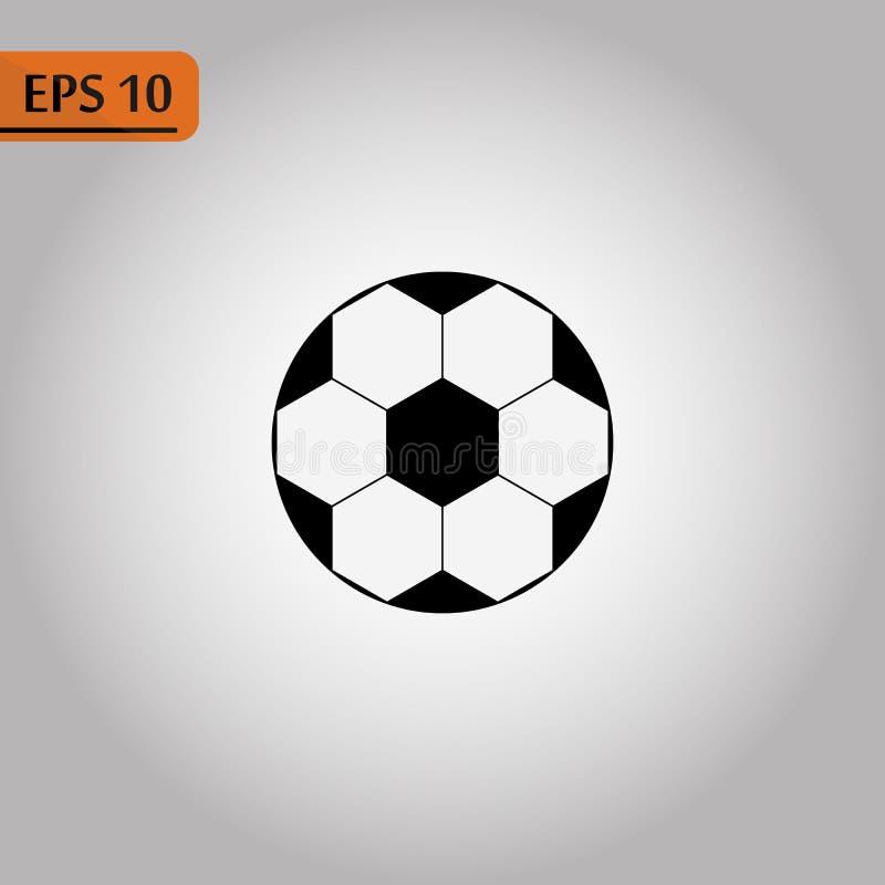 E Pictograma da bola de futebol r ilustração royalty free