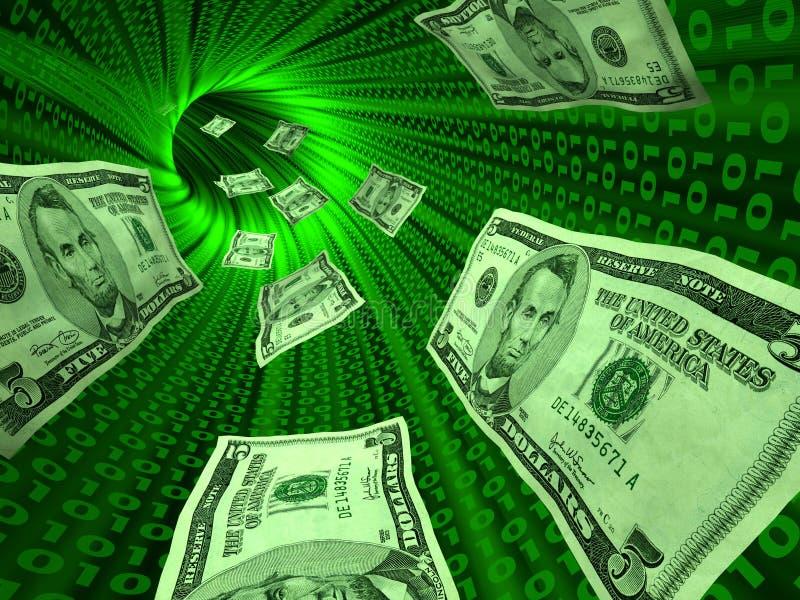 e pieniądze royalty ilustracja