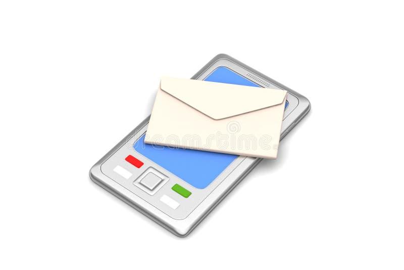 E - post met tabletcomputer royalty-vrije illustratie