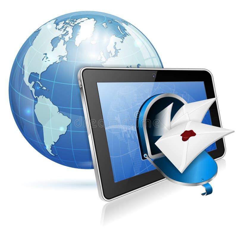 E-postbegrepp stock illustrationer