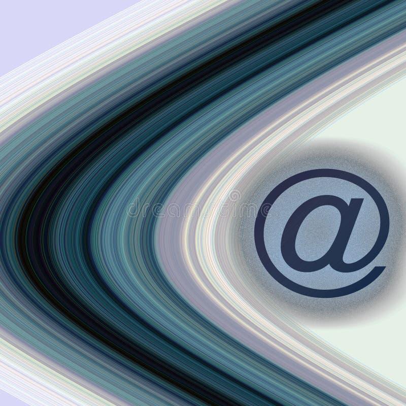 e-postcirklar vektor illustrationer