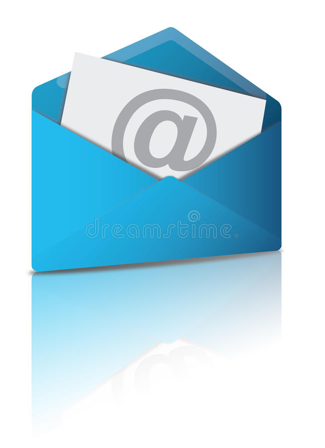 e-postkuvert stock illustrationer
