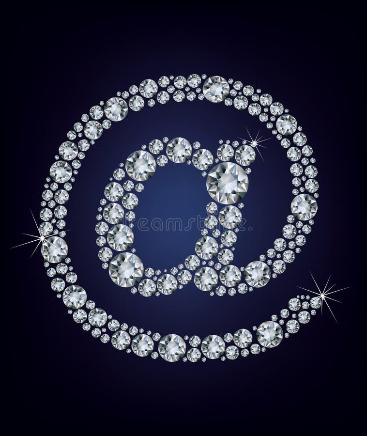 E postpictogram dat van diamanten wordt gemaakt stock illustratie