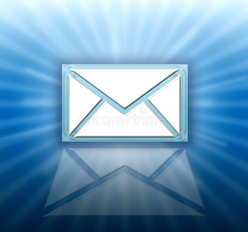 e-postsymbolsbokstav royaltyfri illustrationer