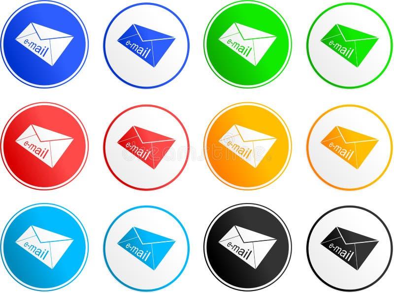 e-postsymbolstecken royaltyfri illustrationer