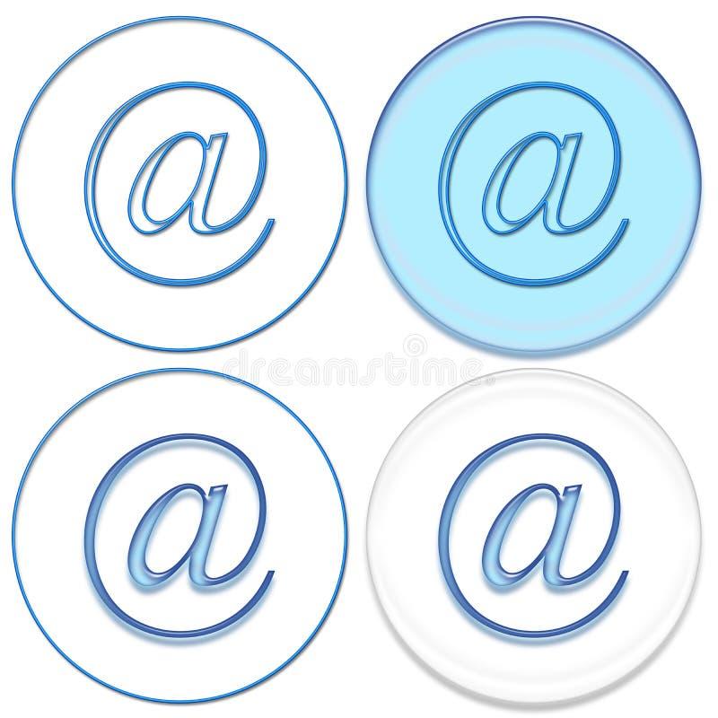 e-posttecken royaltyfri illustrationer
