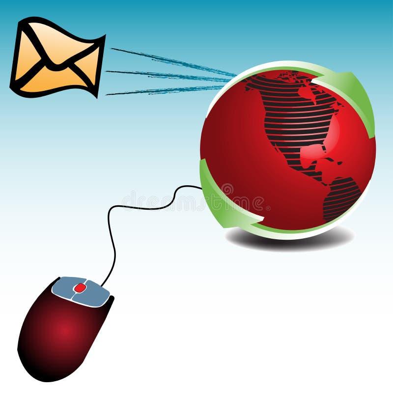 e-posttema stock illustrationer