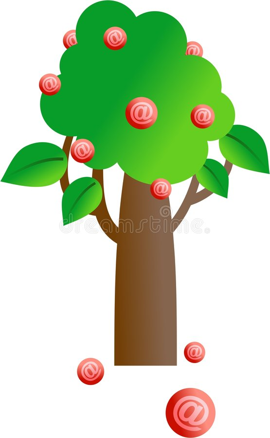 e-posttree stock illustrationer