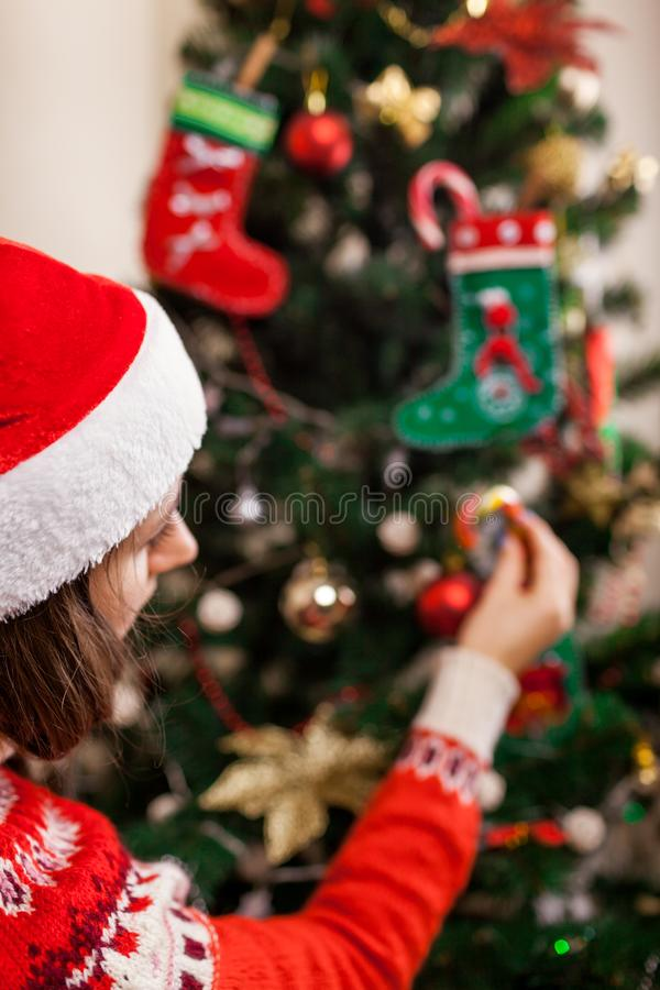 E Preparación al Año Nuevo foto de archivo