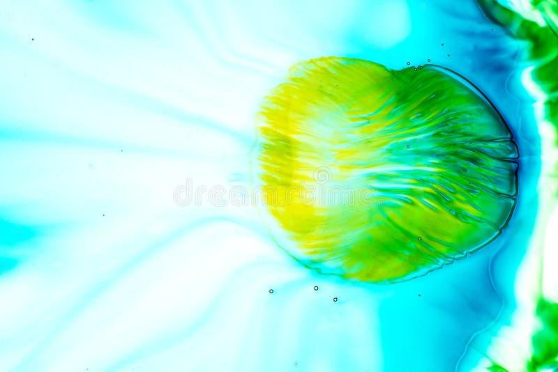 E Priorit? bassa variopinta La miscela, spruzza e disegni dei colori: blu, turchese, verde, giallo, marrone illustrazione vettoriale