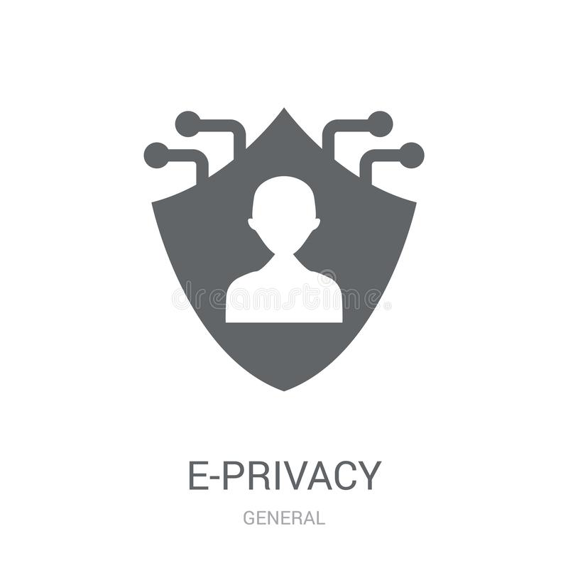 e-privacy icon. Trendy e-privacy logo concept on white background from General collection stock illustration